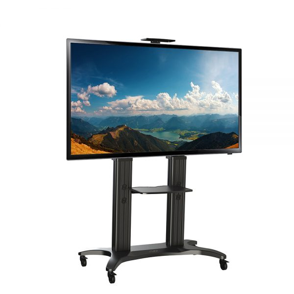 "NB Aluminium TV Mobile Cart: AVF1800-70- 1P Fit Most 55""-80"" Flat Panel LED, LCD TV."