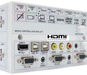 AVS317 Projector Controller Switcher w/ 60 watt speakers