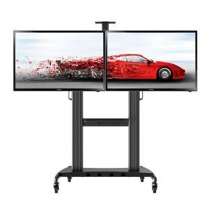 """NB Aluminium Dual Screen TV Cart : AVT1800-60-2A Fit Most 40""""-60"""" Flat Panel LED, LCD TV."""