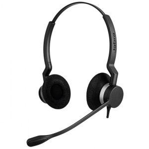 Jabra Biz 2300 MS Duo QD Corded Headset, Quick Disconnect