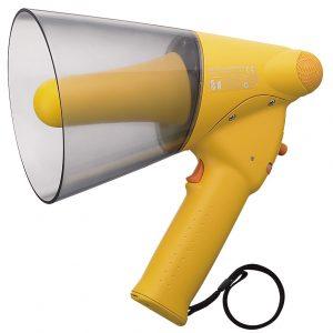 ER-1206W (10W max.) Splash-proof Hand Grip Type Megaphones with Whistle