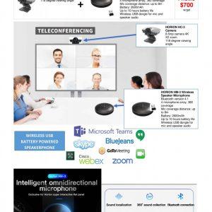 Horion HC-3 Camera + HM-3 Wireless Speaker (Bundle)